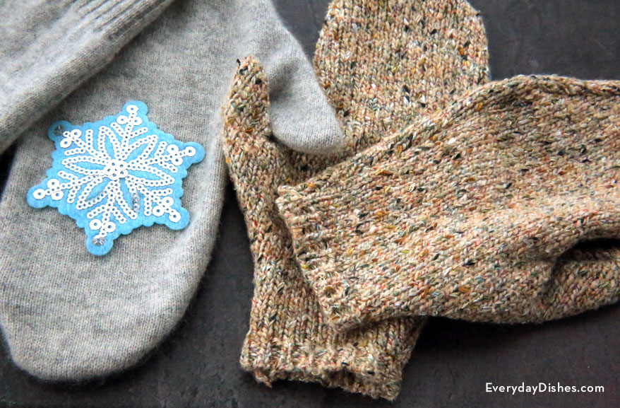 3 sweater mittens diy