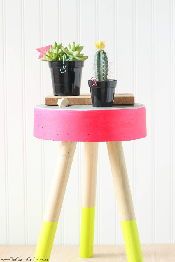 32 neon concrete stool
