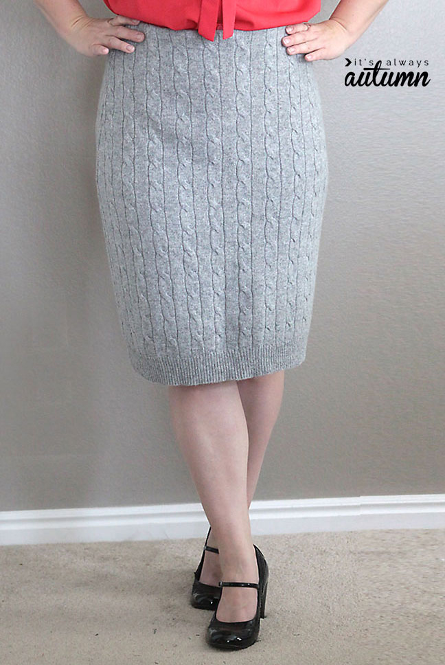 32 sweater pencil skirt tutorial