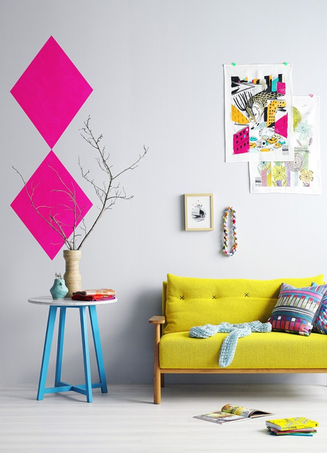 37 neon wall decal