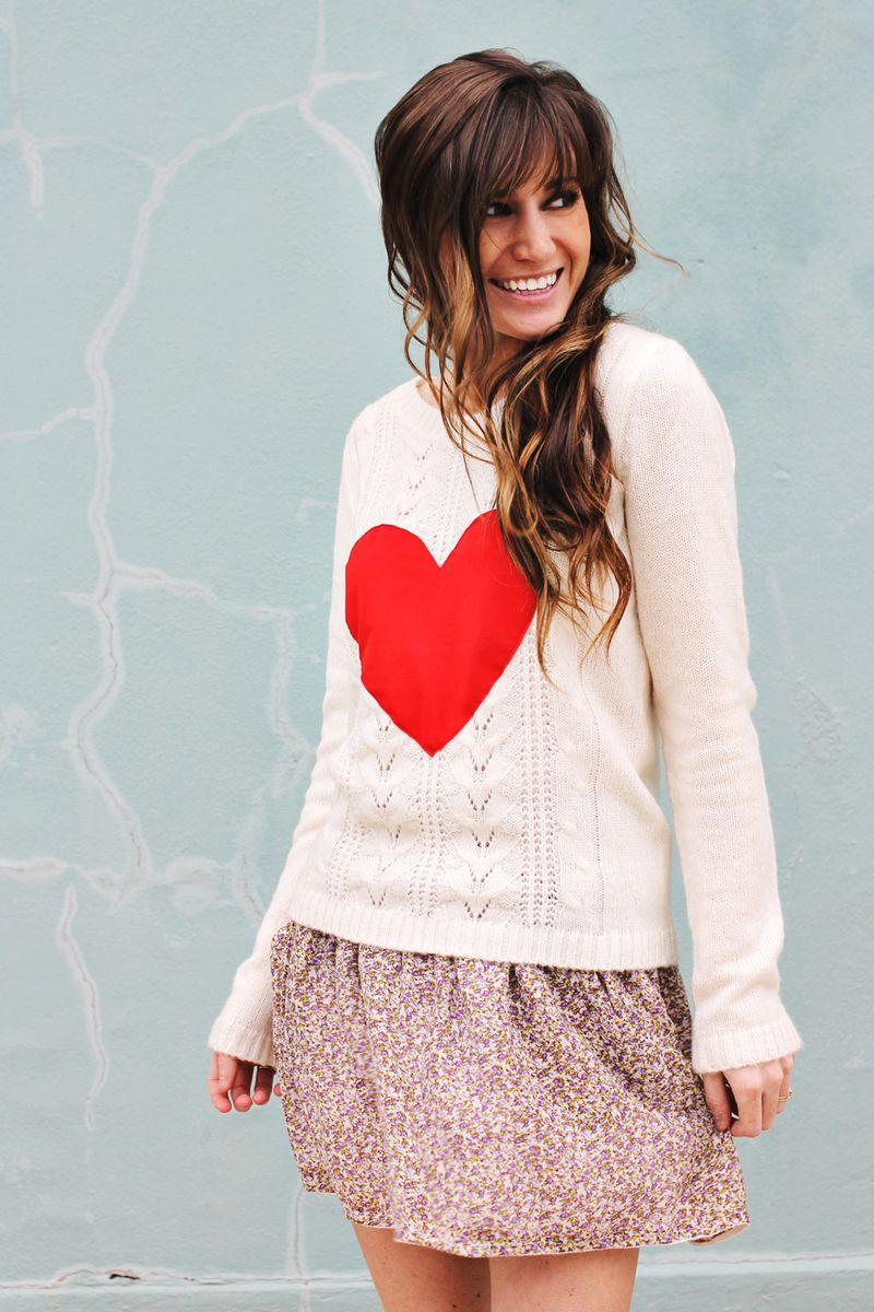39 diy heart sweater