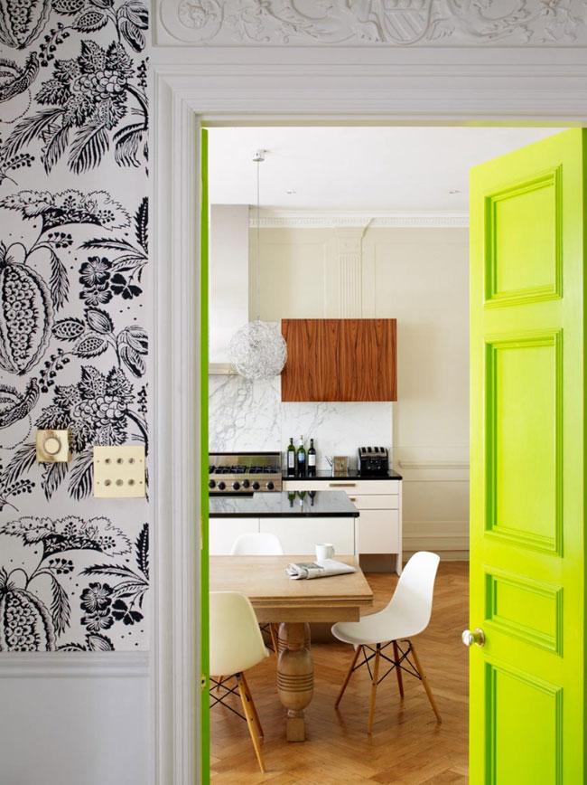 40 neon green door