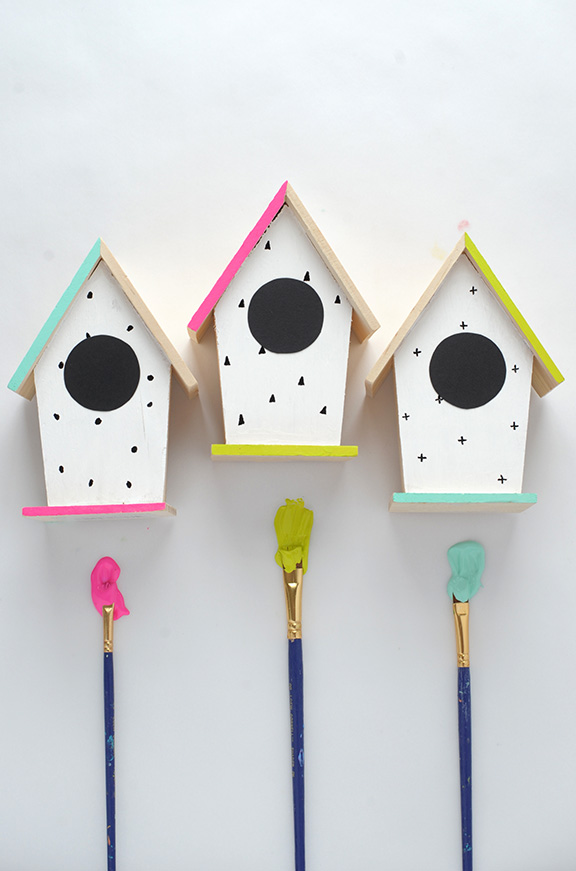 50 Ways To Subtly Incorporate Neon Into Your Home Pokie Dotted Mini Bird Houses Designs on