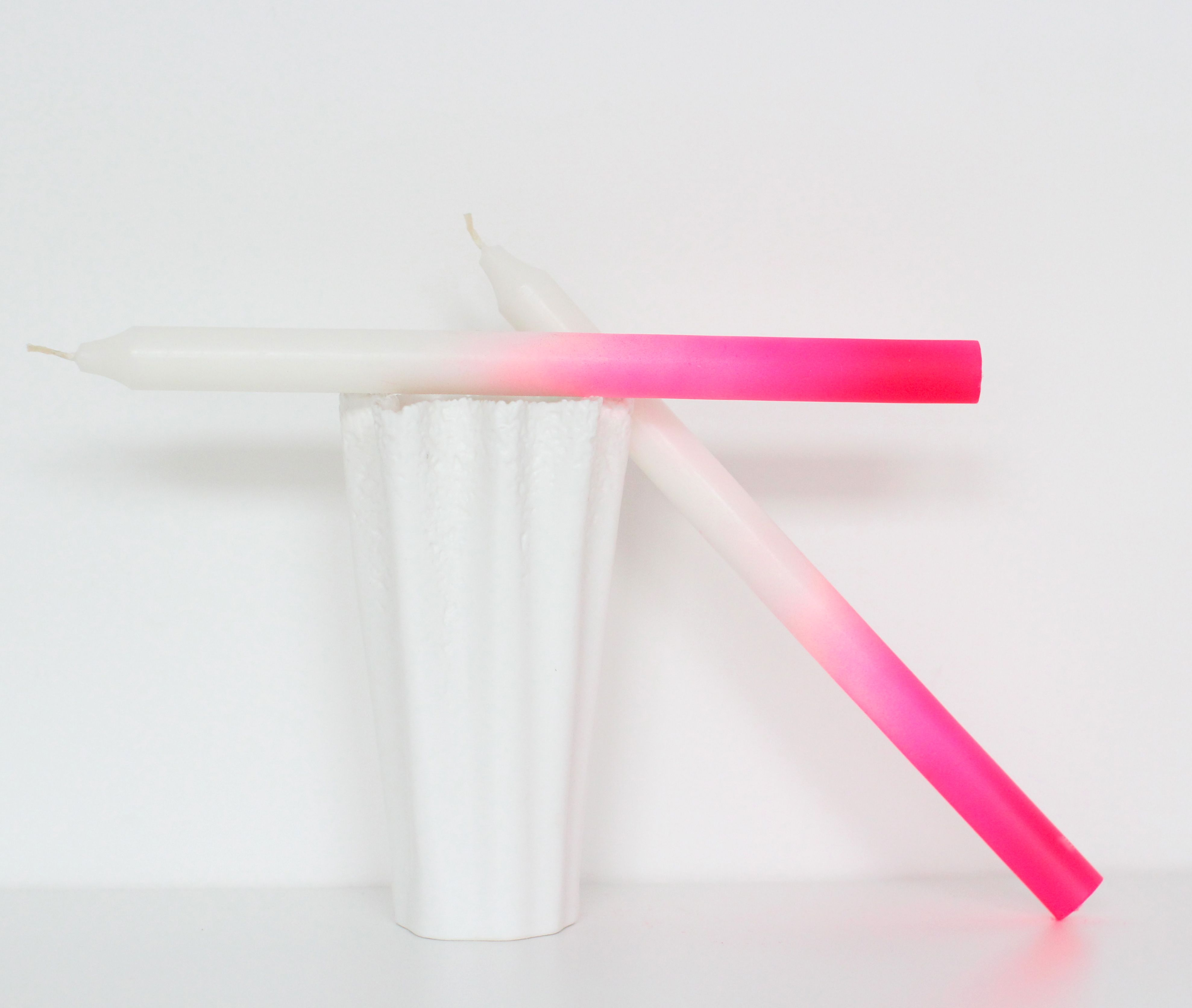 47 neon ombre dipped candlesticks