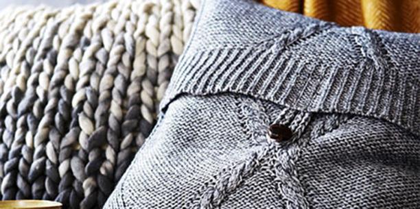 50a foldover button sweater pillow cover