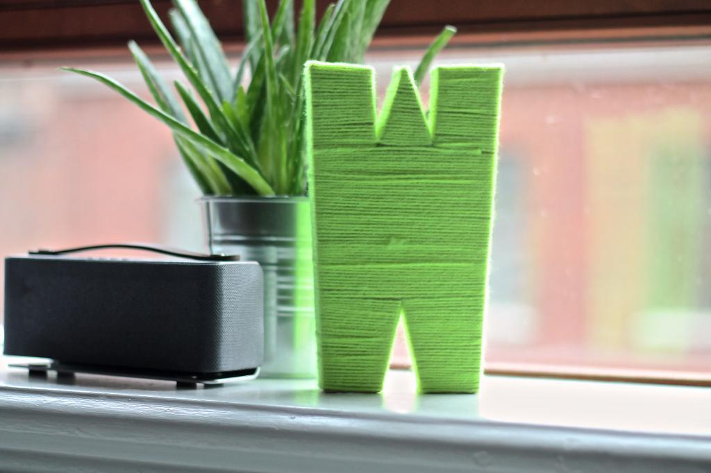 7 neon monogram letter