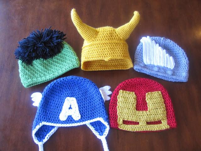 Avengers Baby Hat Crochet