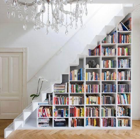 Bookcase understairs design