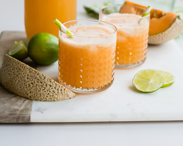 Cantaloupe Lime Sparkling Drink
