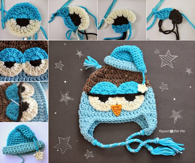 These 60 Crocheted Baby Accessories Will Look Adorable On Your Classy Free Owl Hat Knitting Pattern
