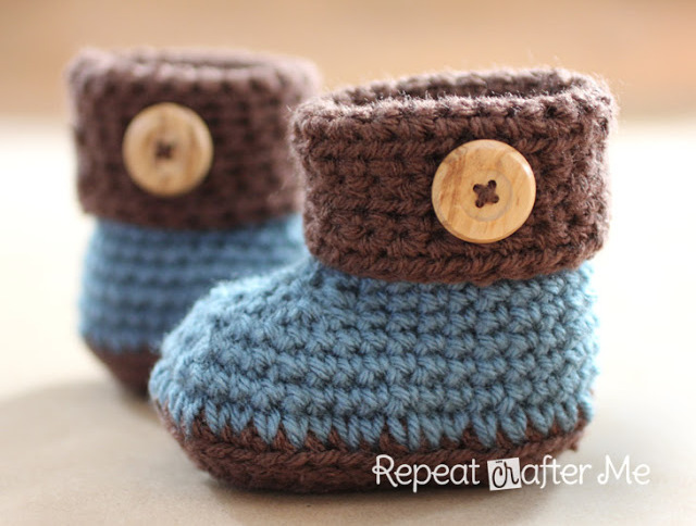 Cuffed Booties Crochet