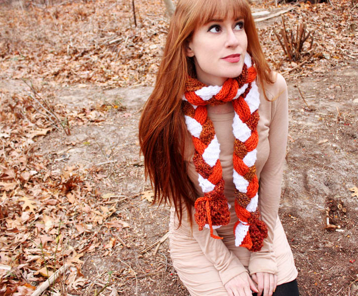 DIY Braided Crochet Scarf