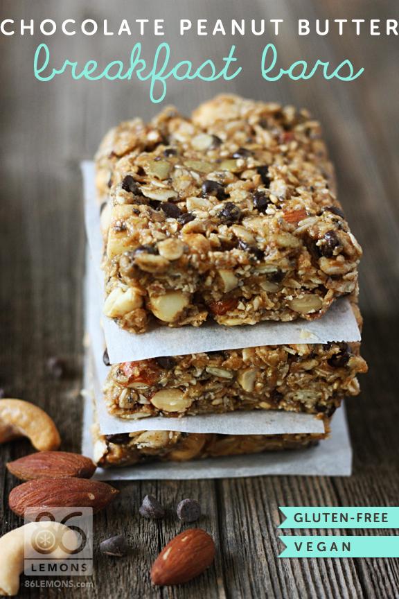 DIY CHocolate Peanut BUtter Breakfast Bar