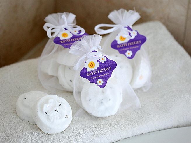 DIY Citrus & Lavender Bath Fizzies