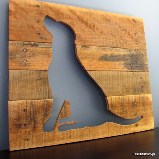 DIY Dog Wood Art
