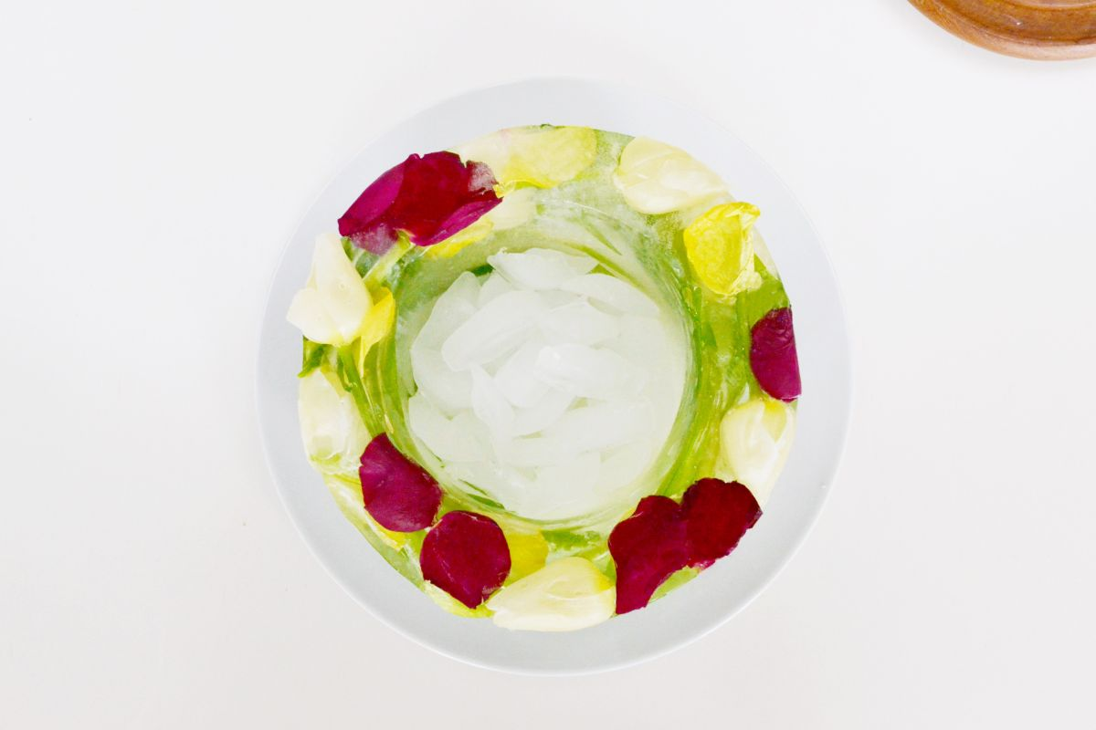 DIY Floral Ice Bowl Top