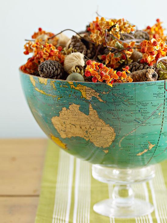 DIY Globe Bowl