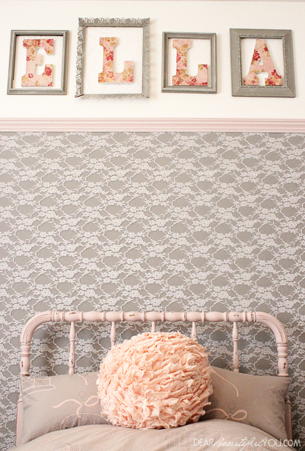 DIY Lace Accent Wall
