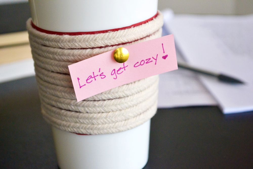 DIY Make a Roped Cup Cozy