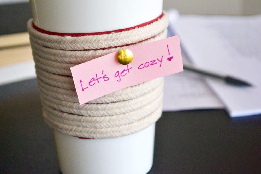 DIY Make a Roped Cup Cozy
