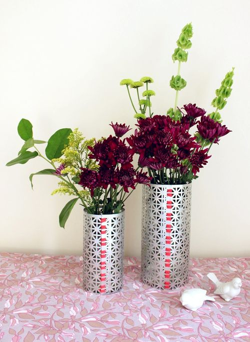 DIY Metal Vases