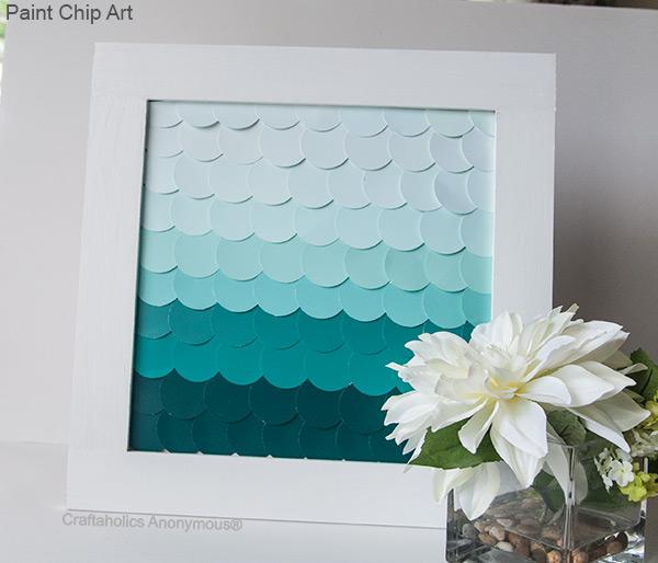 DIY Paint Chip Ombre Art
