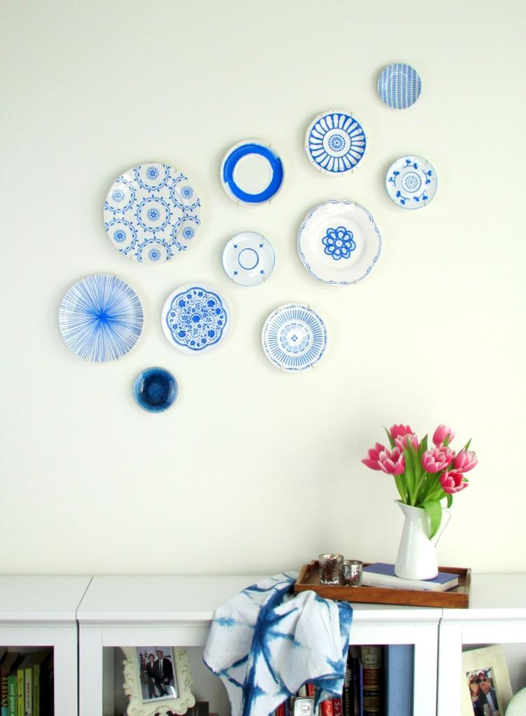DIY Plate Wall art