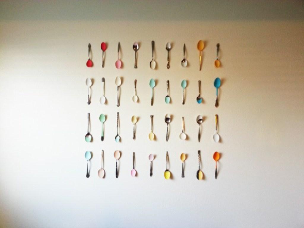DIY Spoon Wall art