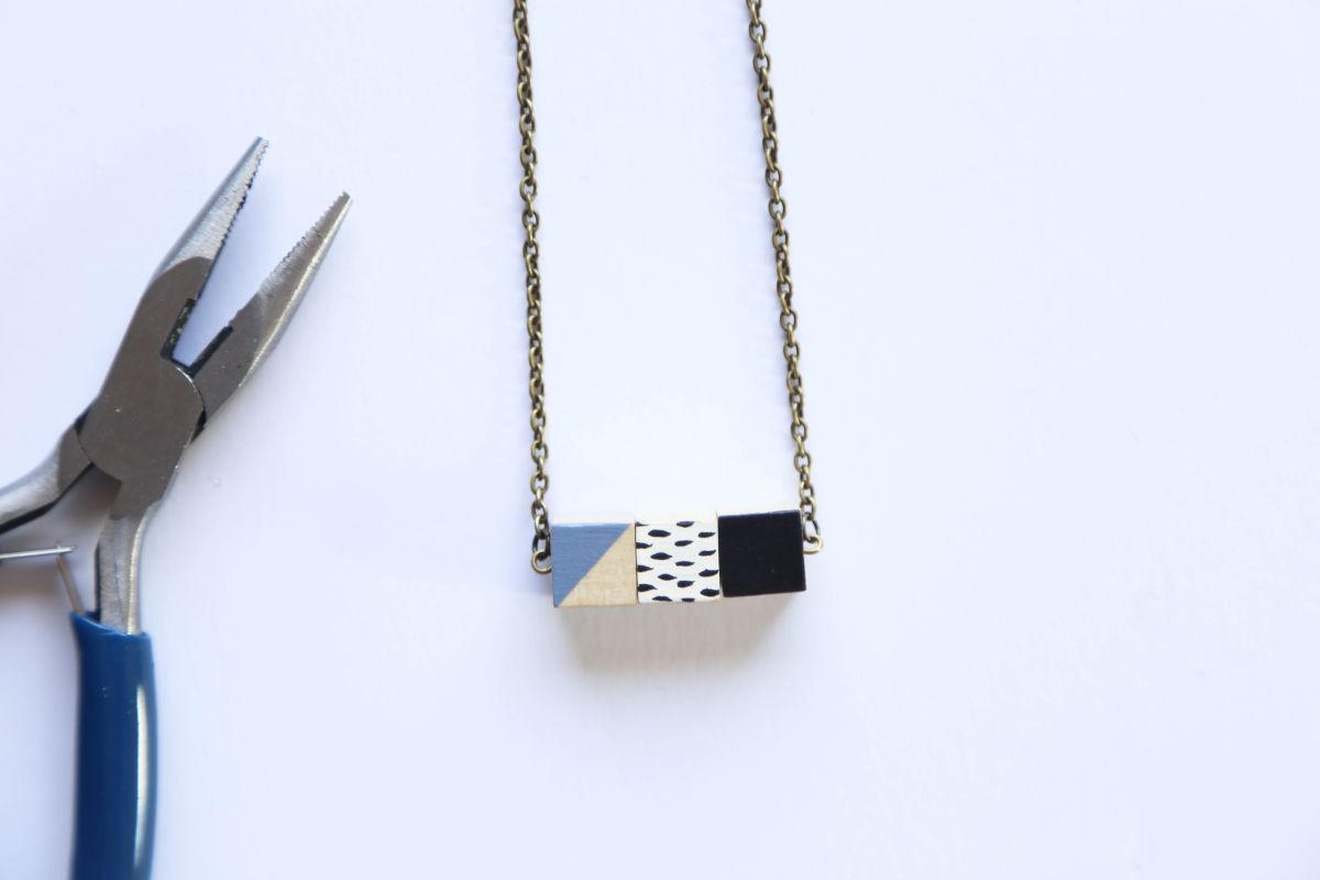 DIY Wooden Cube Necklace Project