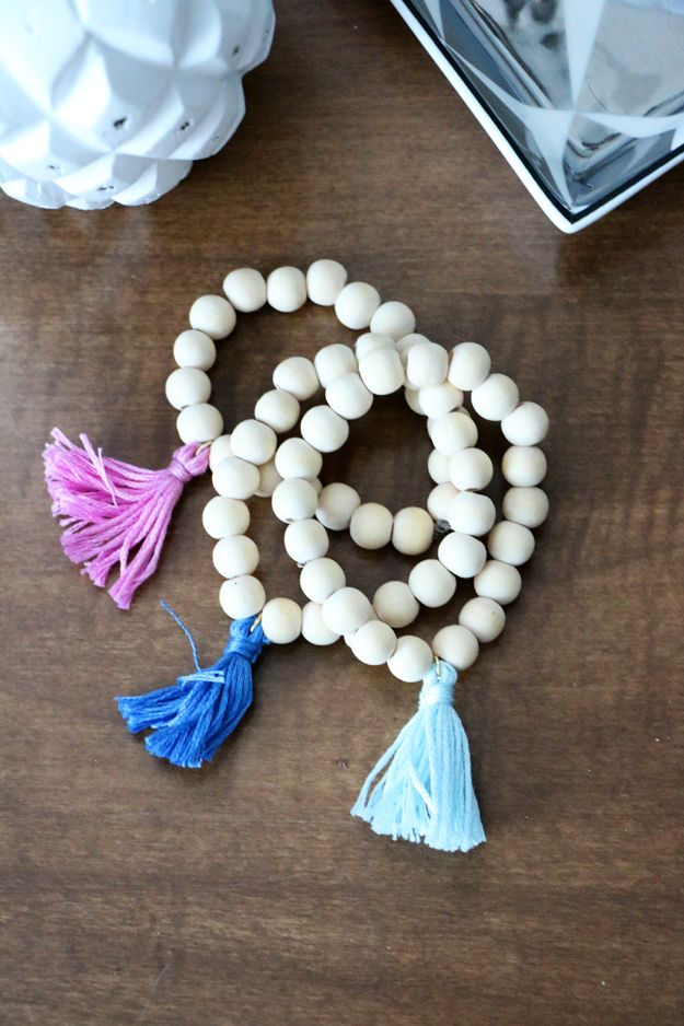 DIY Wooden Tassel Bracelet project