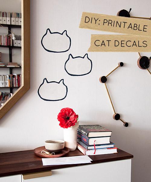 DIY cat decals