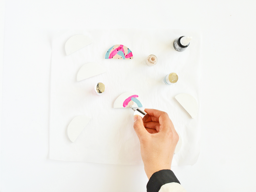 DIY color block magnet