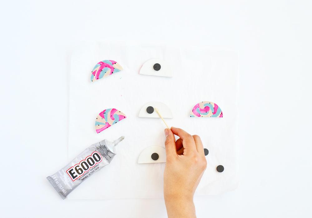 DIY colorblock magnet