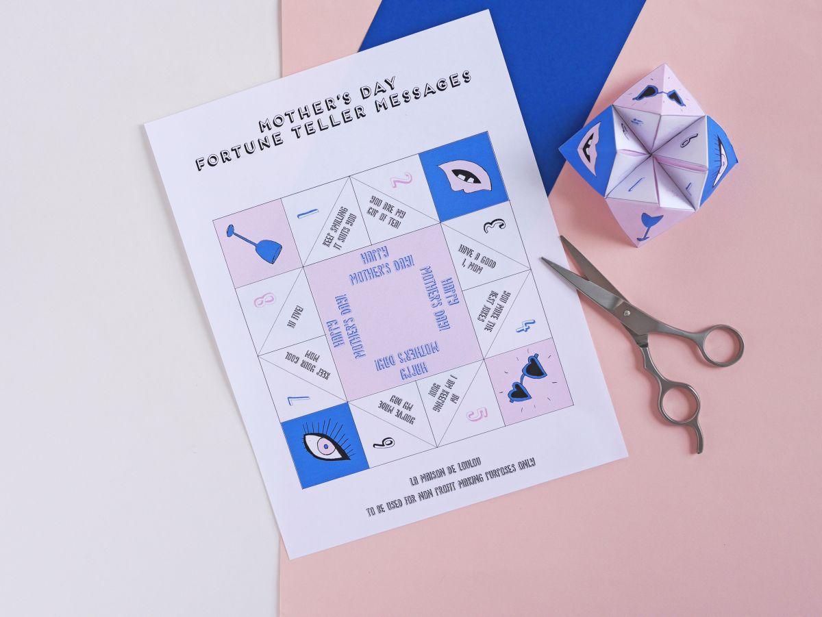 DIY mothers day fortune teller by La maison de Loulou-tuto-1