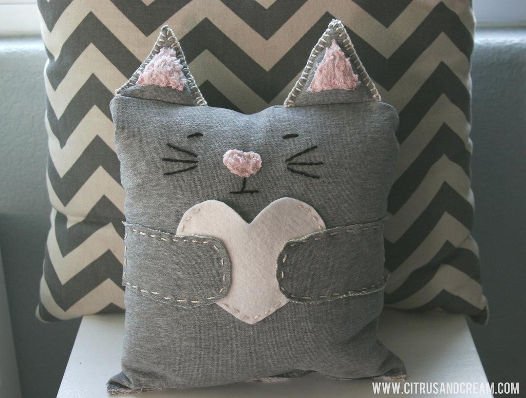 DIy Cat Pillow