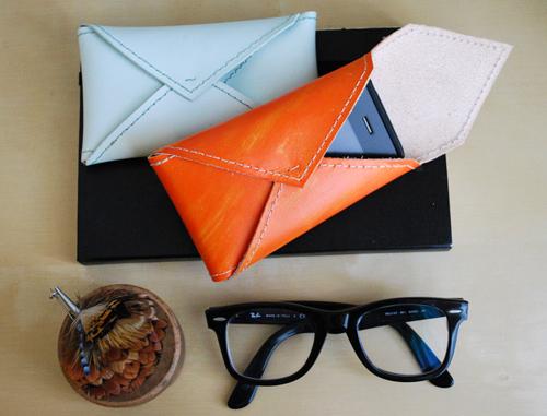 DIy Leather Envelope Phone Case