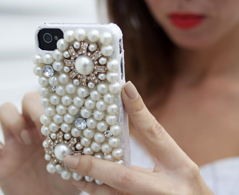 DIy Pearl Phone Case