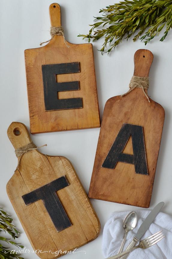 Eat Cutting Board Wall Art