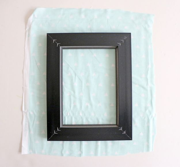 Fabric Picture Frame DIY - Cut