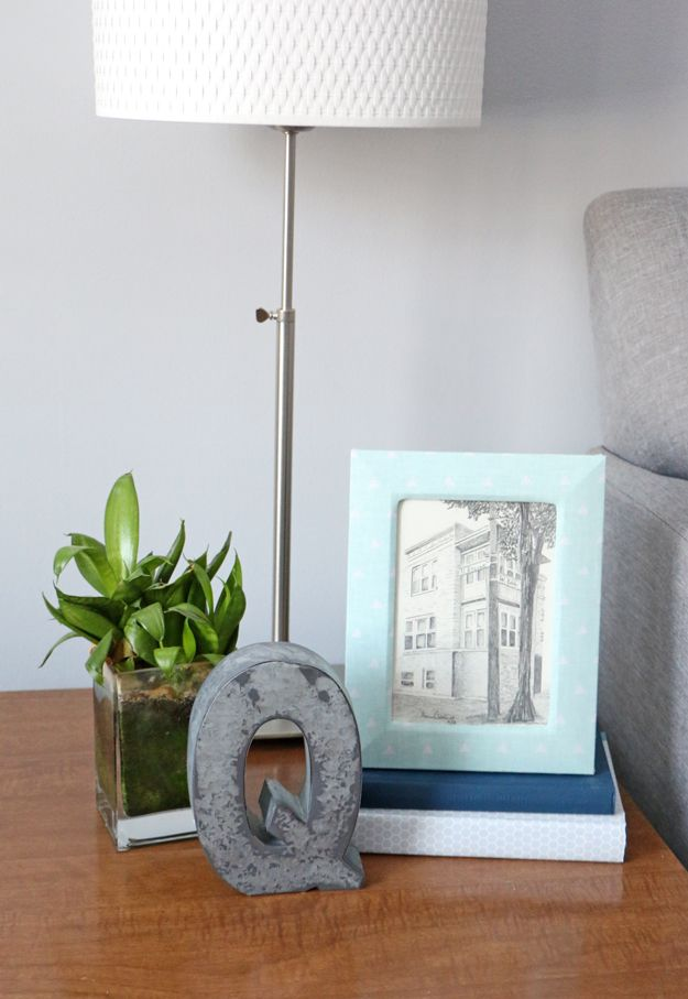 Fabric Picture Frame DIY - Display