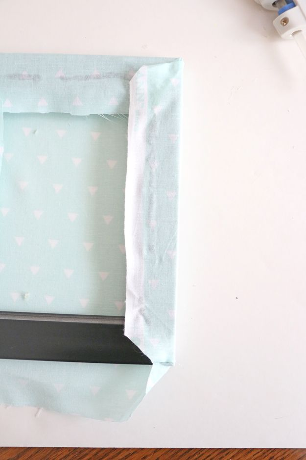 Fabric Picture Frame DIY – center