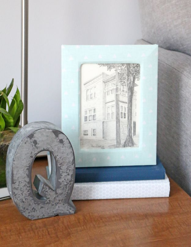 Fabric Picture Frame DIY