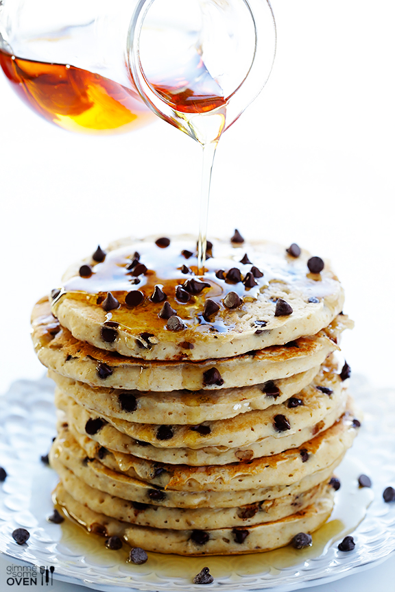 Guiltless-Chocolate-Chip-Pancakes-