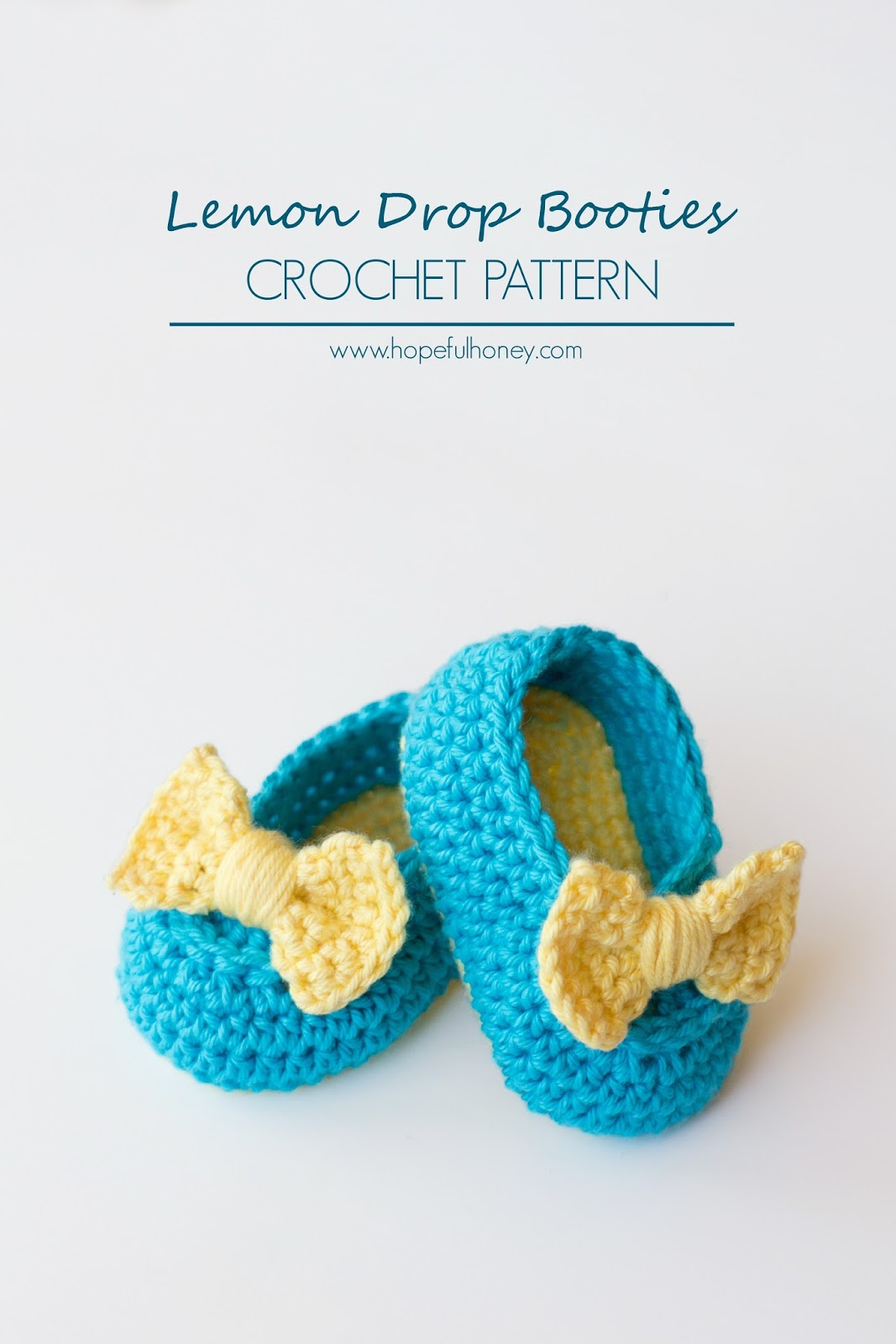 Lemon Drop Baby Booties Crochet Pattern Small 1
