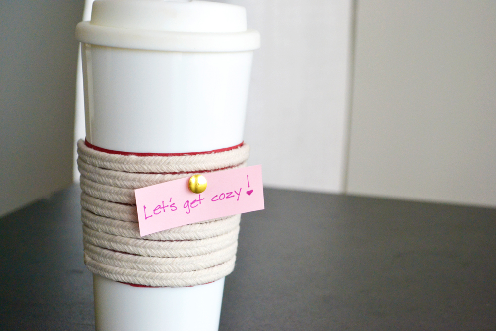 Make a Roped Cup Cozy Projecty