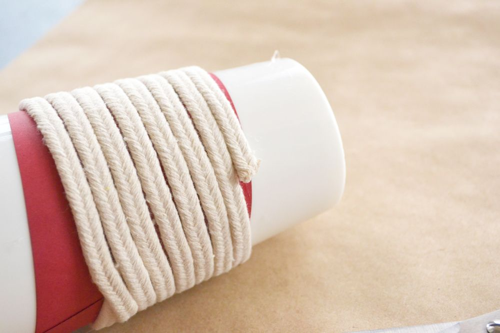 Make a Roped Cup Cozy - bottom