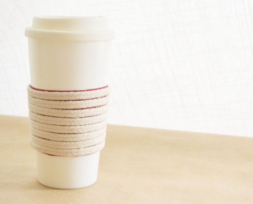 Make a Roped Cup Cozy - glue
