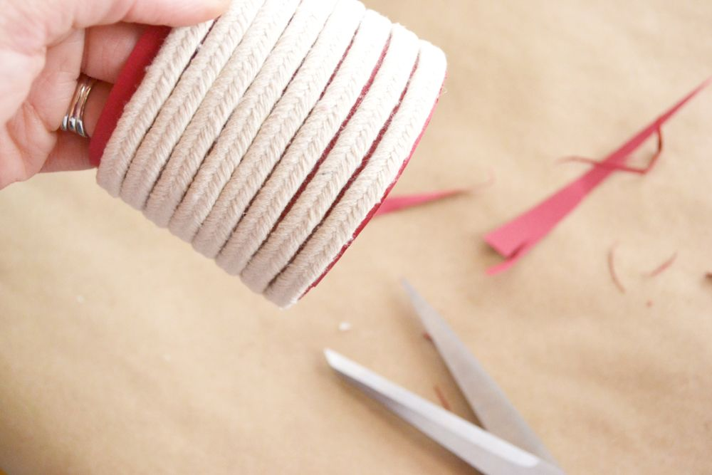 Make a Roped Cup Cozy - wrapped