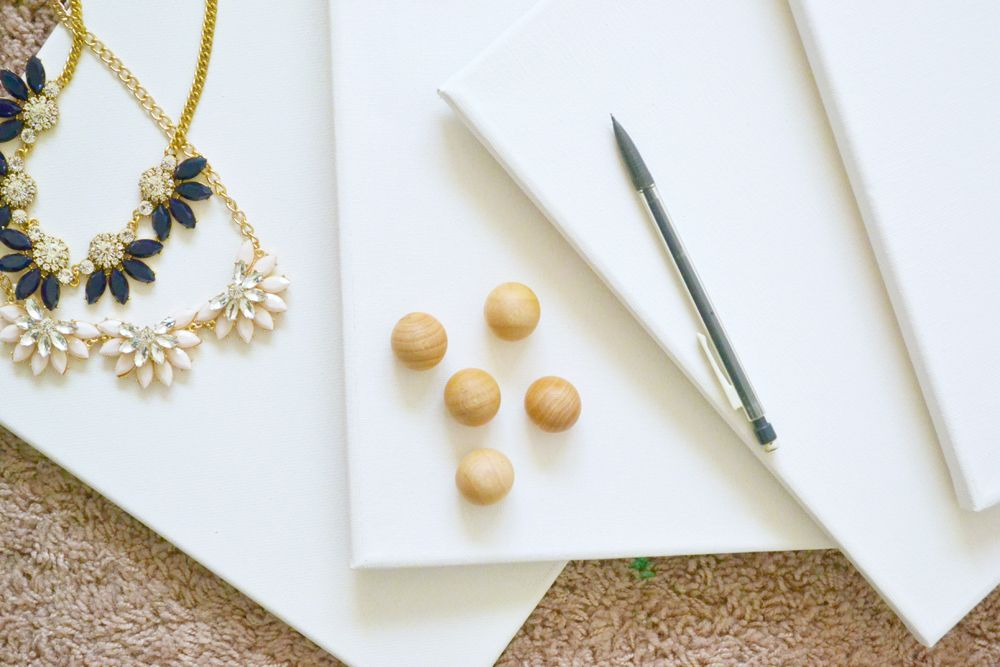 Materials Wall DIY Jewelry Display Canvases