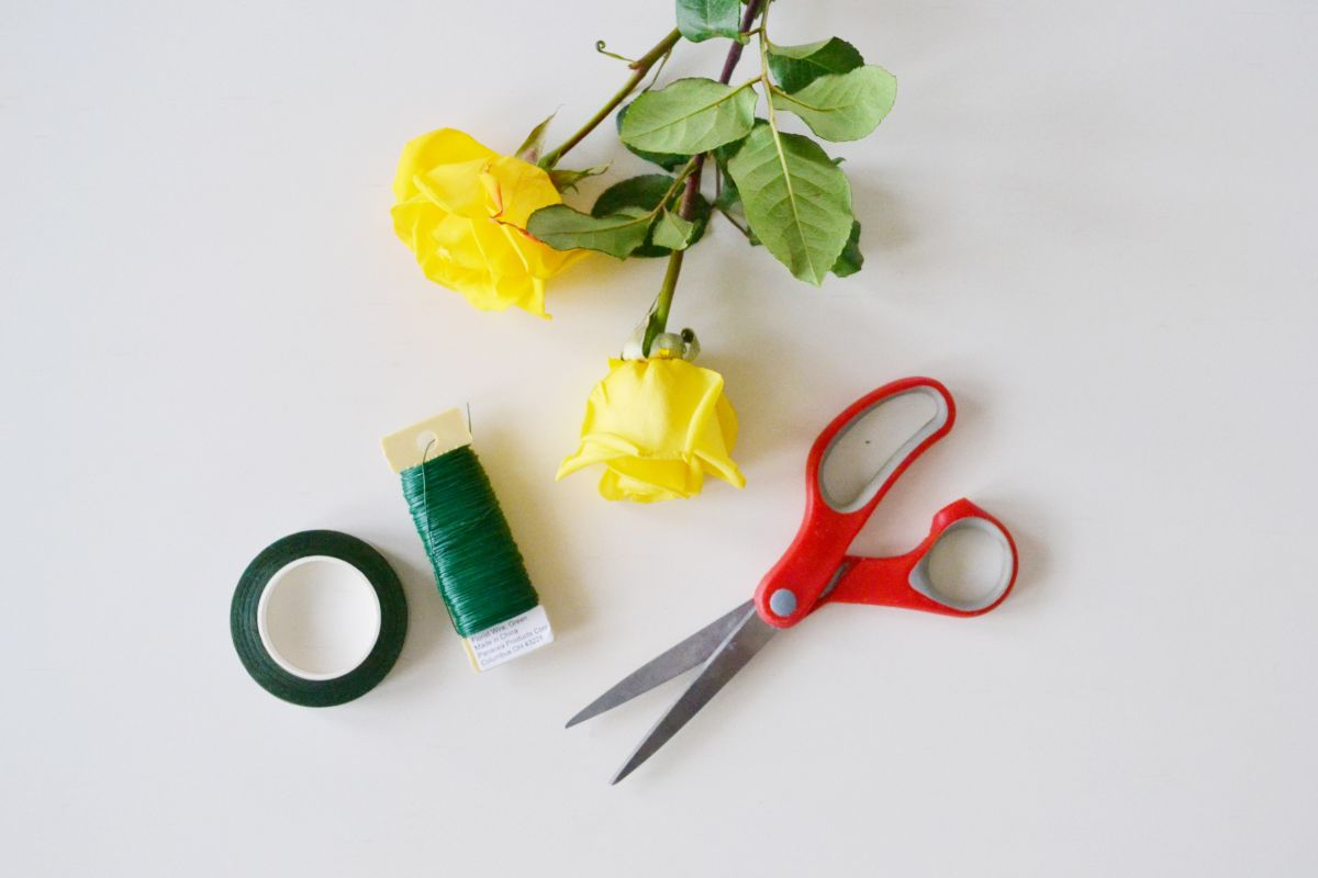 Materials to Make a Floral Garland Centerpiece